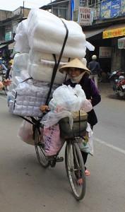 Menschen mit dem Fahrrad