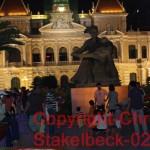 das alte Rathaus mit Onkel Ho