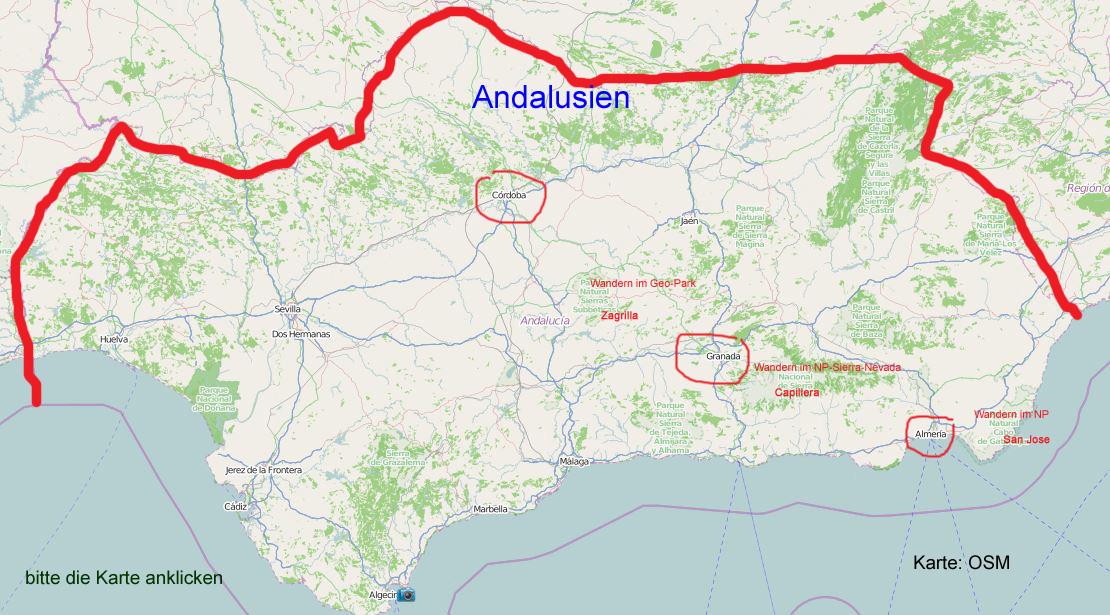küste andalusien karte