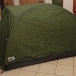 Probeaufbau-Zelt